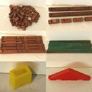 Lincoln Logs 1974 Pioneer Set Choice of Replacement Pieces Parts Wooden Notches