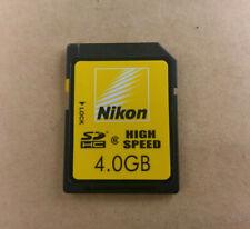 Nikon/Toshiba 4GB SDHC card