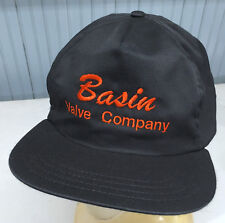 Vintage Basin Valve Company Snapback Made in USA Baseball Cap Hat