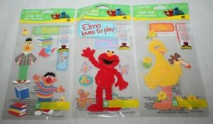 Sesame Street Dimensional Crafting Sticker 3 Packs EK Success Big Bird Elmo Bert