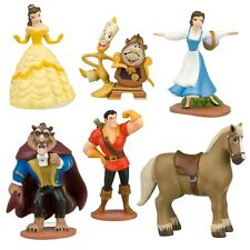 6pc Beauty & The Beast Playset 6 Figure Cake Topper *Fast Shipping* Toy Doll Set