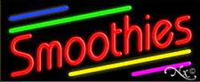 """Brand New """"Smoothies"""" 32x13 W/Multicolor Real Neon Sign w/Custom Options 10900"""