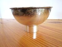 Pottery Barn Silver Plated Pedestal Bowl Dessert Snack Sherbet Ice Cream 1 Vtg