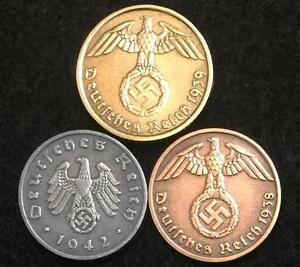 Rare WW2 German Coins Historical WW2 Authentic Artifacts