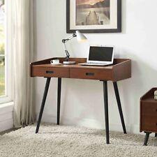 Jual Furnishings Vienna Retro Style Walnut 2 Drawer Desk / Laptop Table Walnut