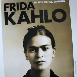 FRIDA KAHLO ORIGINAL 1997 LARGE EXHIBITION POSTER