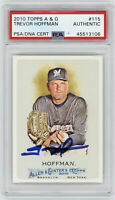 2010 BREWERS Trevor Hoffman signed card Topps A&G #115 PSA/DNA AUTO Autographed