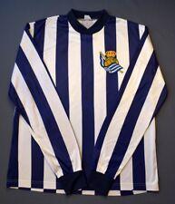 4/5 Rare Real Sociedad Football Home Jersey Shirt long slevee 80-90-S Adidas
