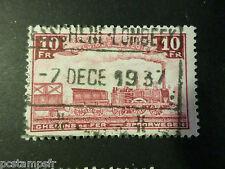 BELGIQUE 1935, timbre COLIS POSTAUX 196 TRAINS, oblitéré, PARCEL POST USED STAMP