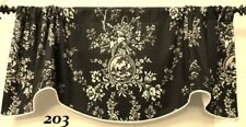 COUNTRY HOUSE BLACK &CREAM BY WAVERLY-SCALLOPED FRENCH COUNTRY WINDOW VALANCE