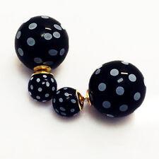 Fashion Jewelry Celebrity Runway Double Big Pearl Plug Earrings Ear Studs New