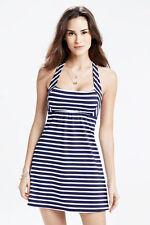 Lands' End, Halter Dresskini Swim Dress,Deap Sea Blue Striped Sz. 2, NWT