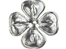Art Deco 900 Silber Luther Rose Klee Blatt Glücksbringer Große Brosche!