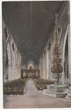 Grantham, St. Wulfrun's Church Interior Postcard, B092