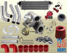 Mazda Miata Mx-5 1.6L T3/T4 Turbocharger Turbo Kit Red+Manifold+Bov+Wg+Gauge
