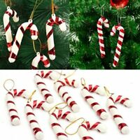 12Pcs Christmas Candy Canes Ornaments Party Xmas Tree Hanging Decorations