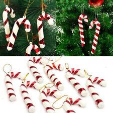 12Pcs Navidad Bastones Caramelos Adornos Fiesta de Navidad Árbol Colgando