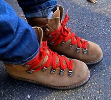 Vintage Beige Womens Size 8 Leather Hiking Boots