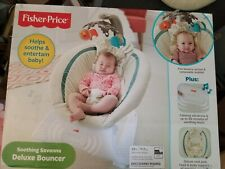 Fisher-Price Soothing Savannah Deluxe Bouncer NEW IN BOX