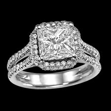 CHRISTMAS 2 CT DIAMOND ENGAGEMENT RING PRINCES F/SI 14K WHITE GOLD ENHANCED