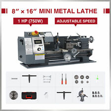 Mini Metal Lathe Cutter For Metal And Woodworking 8x16 750w 2250rpm Benchtop