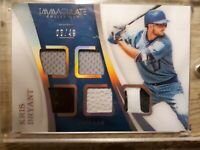 Kris Bryant 2017 Panini Immaculate Collection 5 Relic Card #03/49