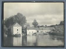 France, Ancien moulin à l'eau  Vintage silver print.  Tirage argentique d