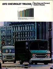 1972 Chevrolet Trucks Step-Vans Automobile Brochure EX 021917jhe