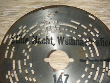 Lucía chapa placa 12cm silencio nocturno organett diana reloj Music Box Christmas Disc