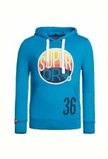 NEW RRP£54.99 MENS XL SIZE 42 SUPERDRY HOOPER SURF LITE TIN TAB HOODIE AQUAMARIN