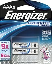 Energizer e2 Lithium Batteries AAA 2, 2 ea (Pack of 3)