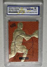 1996-97 Fleer Ultra Court Masters Michael Jordan Feel The Game 23K Gold WCG 10