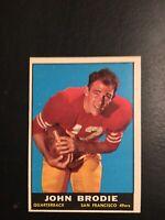 1961 Topps #59 JOHN BRODIE ROOKIE San Francisco 49ers/Stanford Ex