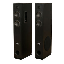 Acoustic Audio TSi300 Bluetooth Powered Floorstanding Tower Home Speaker Pair
