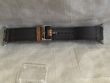 Brown Leather Strap for smart watch w Face Cover 38 MM (40MM) New open box