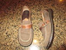 Born Brown suede leather loafers women's 7 1/2 / 38.5  w6261 slip on adj buckle