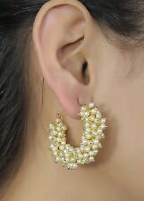 Indian Ethnic Gold Plated Pearl Women Bollywood Traditional Fashion Earrings Set