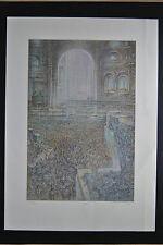 Originaldrucke (1950-1999) mit Architektur-Motiv und Lithographie-Technik