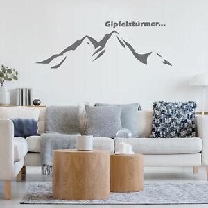 Wandtattoo für Gipfelstürmer, Bergsilhouette - konturgeschnittene Wanddekoration