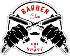 Barber Shop Decal   Cut and Shave * NEW *