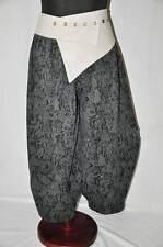 MYO-Lagenlook raffinierte Ballonhose JAQUARD JERSEY grau-schwarz XXL,XXXL,XXXXL