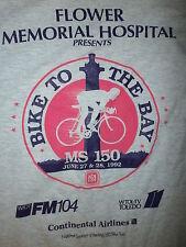 vtg 90s BIKE TO BAY T SHIRT Toledo 11 WTOL Put-In 1992 Flower Hospital Cycling