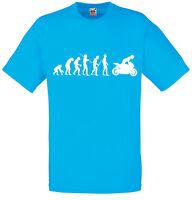 Evolution of Superbike Motorbike Inspired Men's Printed T-Shirt Casual Slim Fit