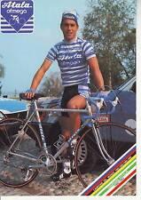 CYCLISME carte cycliste MORONI EZIO équipe ATALA OFMEGA 1987