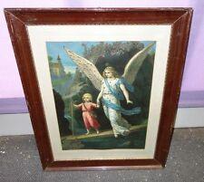 antikes Schutzengel Bild Schutzengelbild Engel Bild 1557/12