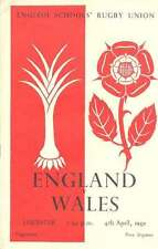 ENGLAND v WALES SCHOOLS UNDER 16 April 4th 1959 RUGBY PROGRAMME at LEICESTER