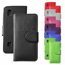 PU Leather Magnetic Book Case Wallet Flip Case Cover For Nokia Asha 300