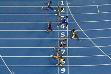 "053 Usain Bolt - 100 m Running Jamaica Game Champion Olympic 36""x24"" Poster"