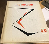 1958 Clinton High School yearbook From Clinton TN - Dragon VGC See Pics