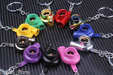 Turbo Charger Keyring Keychain Gift Drift Spool Boost Toy Ring For Him